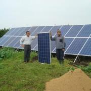 Installation de Sidi Allal Tazi - Panneaux solaires délivrant une énergie de 6480 wp - Mars 2013